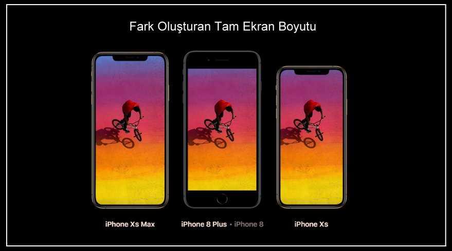 iphone xs ve xr boyutları